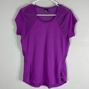 Nike dri fit short sleeve athletic t shirt purple